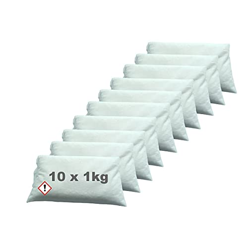 Luftentfeuchter Granulat im Vliesbeutel 10 x 1 kg Keller-Trockner Anti Feuchtigkeit