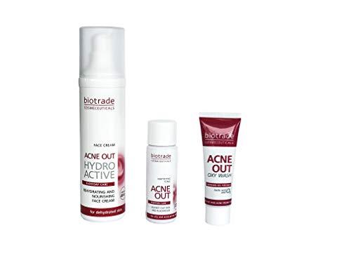 Hydro Active Creme 60ml Tägliche Hydratisierende Pflege + 2 Geschenke Reinigungspflege und Anti Akne Tonikum Für Fettige Und Zu Akne Neigende Haut Von Biotrade