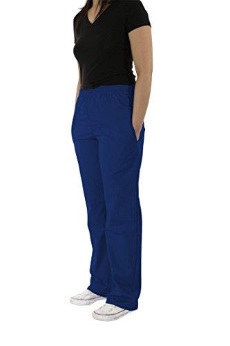 Spectrum Soft Scrub Pants - Elastic Waist Pants for Women - Royal - XS(Petite)