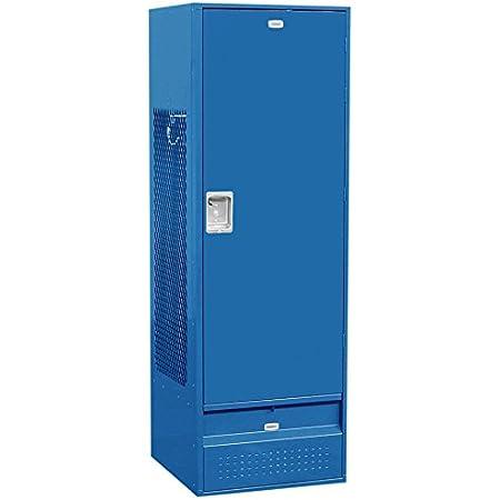 Amazon Com Salsbury Industries 71024bl U Solid Door 6 Feet High 24 Inch Deep Unassembled Standard Gear Metal Locker Blue Home Improvement