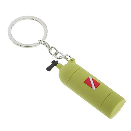 chiwanji Diving Tank Key Diving Air Cylinder Key Charm Diver Bag Tag Pendant - Green