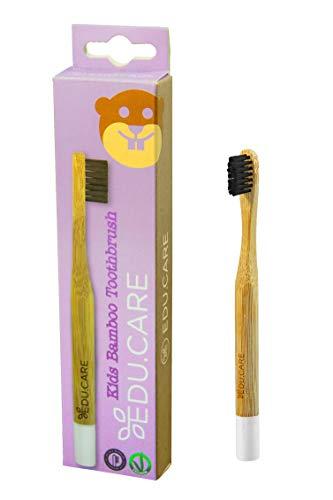 Rolly toys - Cepillo de dientes orgánico extra suave de bambú para niños
