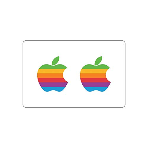 Lsmaa Pack van 2 Apple Logo Sticker | MacBook Retro Decal | iPhone Special Event Design (MacBook - no Light, Special) Retro