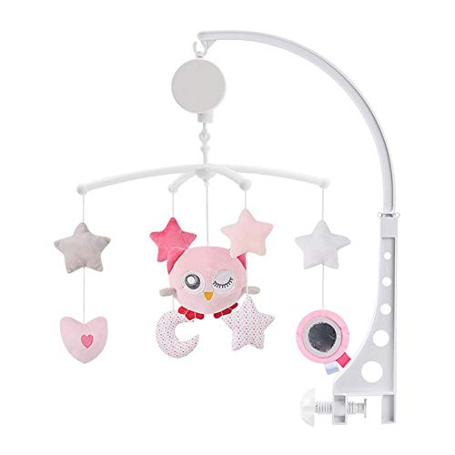 Sanmubo Baby Musical Crib Bell Mobile Cloth Toy Cot Mobile Toy Gentle Rotating Motion Soft Starlight Soothing Songs For Baby Boys And Girls