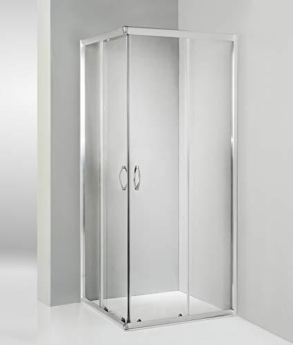 HYDRA Box Doccia angolare Porta Scorrevole 60x90 cm Trasparente Serie n