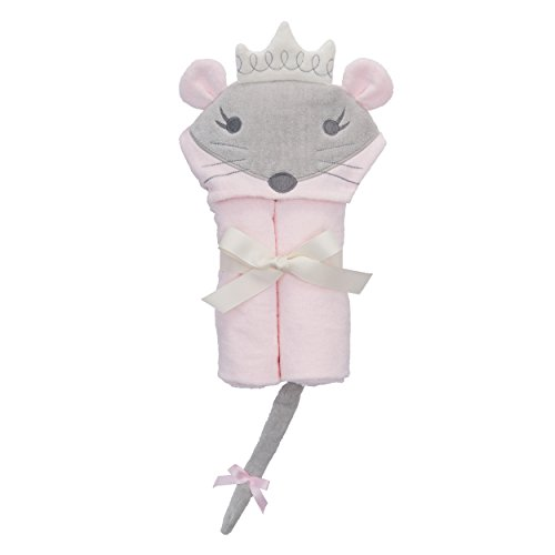 Elegant Baby Bath Best Bath Gift - Cotton Towel Wrap, Cute Pink Mouse Princess
