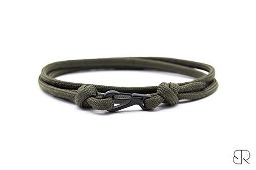 Armeegrünes Karabiner Armband, Herren Armband, Damen Armband, Paracord Armband, Kletter Armband, Bergsteiger Armband, Seil Armband, Survival Armband, BrudersRopes