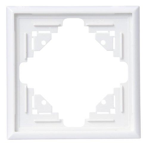 Kopp 309113063 Malta Abdeckrahmen für senkrechte und waagerechte Montage 1-fach, arktis-weiß