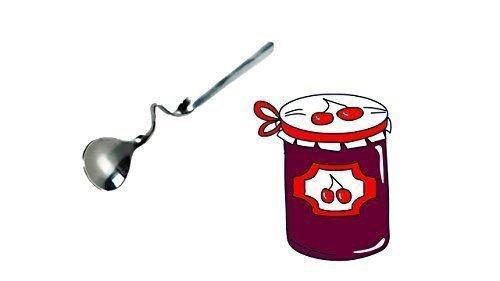 Marmeladenlöffel mit Knick zum Einhängen, Edelstahl rostfrei