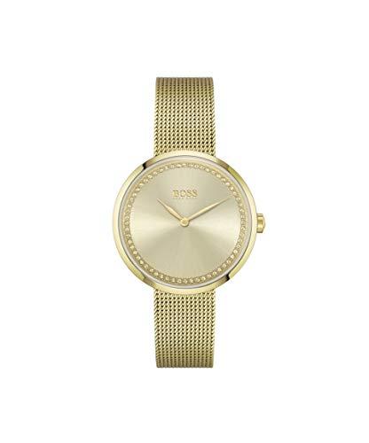Hugo Boss Damen Analog Quarz Uhr mit Edelstahl Armband 1502547