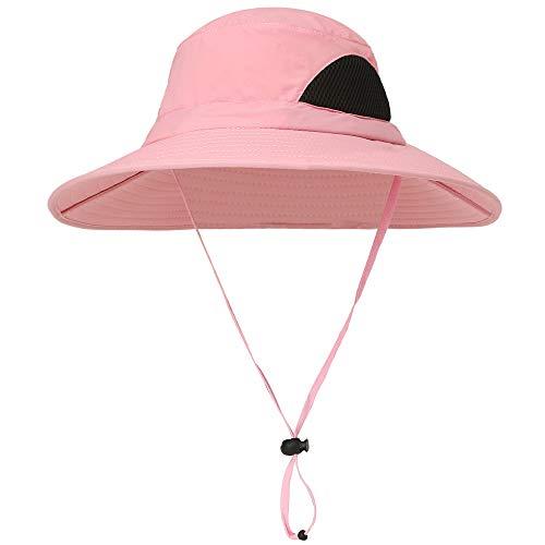 KKmoon Chapéu de sol Boné de verão de aba larga Boné de proteção UV para acampamento, pesca, caminhadas, montanhismo