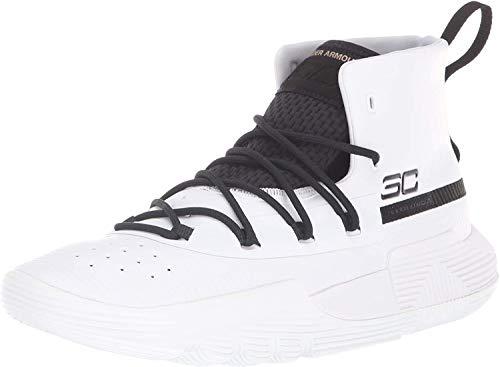 Under Armour Men's SC 3ZER0 II Basketball Shoe, White (103)/Black, 8.5