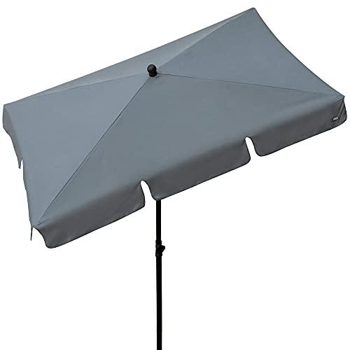 AKTIVE–Parasol de Balcon rectangulaire 200x 120cm et Couleur Gris (85089)