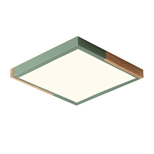 Ceiling Lights HSJ Deckenleuchte, LED, kreativ, Schlafzimmerlampe, 40 cm x 50 cm, Farbe: weißes Licht, Größe: Grün (50 cm)
