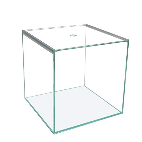 Ultra Clear Glas-Aquarium/Terrarium Würfel 30x30x30cm,27L, Glas-Abdeckung+Unterlage