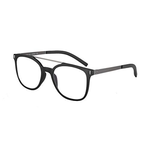 YAO YU Gafas de Lectura Fotocródricas de Doble Luz, Trampas Y Lentes de Resina, Gafas de Sol Polarizadas Anti-Uv/Negro/2