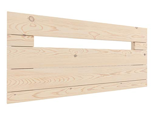 LA WEB DEL COLCHON - Cabecero de Madera Rústico Provenza para Cama de 105 (115 x 44 cms.) Crudo sin Pintar   Cabeceros Madera   Dormitorio Matrimonio   Cabezal Cama  Estilo nórdico