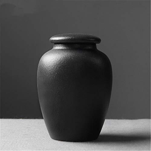 Teiera Caffettiera In Ceramica Zuccheriera Da Cucina Cibo Secco Spezie Serbatoio Di Stoccaggio Coperchio In Ceramica Come Tè, Zucchero, Farina 12 * 9 Cm