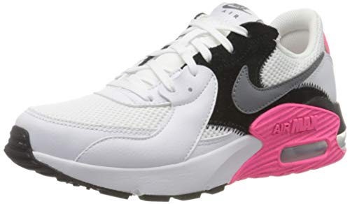 Nike WMNS Air Max Excee, Chaussure de Course Femme, White/Cool Grey-Black-Hyper Pink, 39 EU