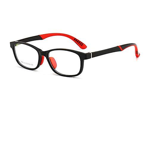 Sonnenbrille,Anti-Blaulicht Kinder Zweifarbige Injektion Fda-Schutzbrille Anti-Tröpfchen-Grundschüler Strahlenschutzbrille Rahmen, C1