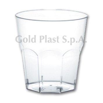 Bicchieri Cocktail in Plastica PS 200cc tacca 160cc cfz 50pz (Trasparente)