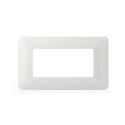 BTicino AM4804BBN Matix Placca, 4 Moduli, Bianco