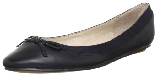 Buffalo London 207-3562 - Bailarinas de Piel para Mujer, Color Negro, Talla 39