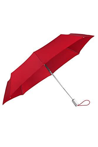 SAMSONITE ALU Drop S - Safe 3 Section Auto Open Close Paraguas Plegable, 28.5 cm, Rojo (Tomato)