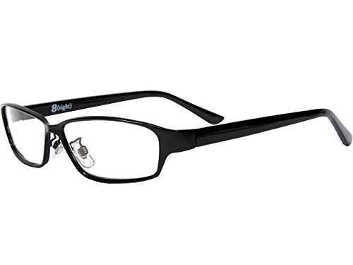 (エイト) 8(eight)3color メタルフレーム サングラス 黒ぶち眼鏡 伊達メガネ 専用ケース付き ブラック×クリアー