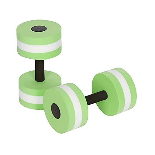 'N/A' 2pcs / Mancuernas de Espuma EVA, Mancuernas flotantes de flotabilidad, aeróbicos acuáticos, Equipo de Ejercicio de Resistencia a la Piscina, Fitness para la Piscina(Color:Verde)