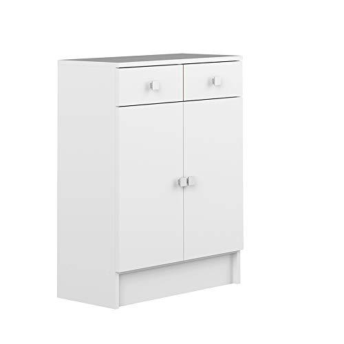 Element bas-2 portes-2 tiroirs-Corps blanc-façades blanches/6038A2121A17