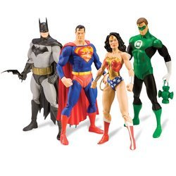 Justice: Action Figures Collector Box Set of 4 + Issue #1 by Diamond Comic Distributors
