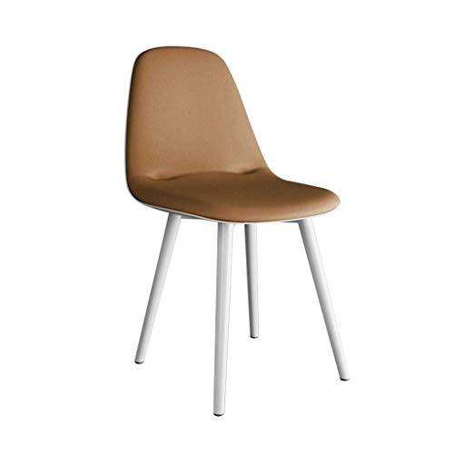 LINGZHIGAN Sac de chaise souple Dossier Tabouret de bureau minimaliste moderne Chaise de restaurant décontractée (Couleur : B)