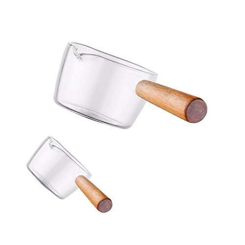 DOITOOL 2 Keramik-Krüge mit Griff, Mini-Soßenkännchen, Milchkännchen, Vorspeisen, Würzschale, Dip-Schalen, Sirup-Glas (S + L)