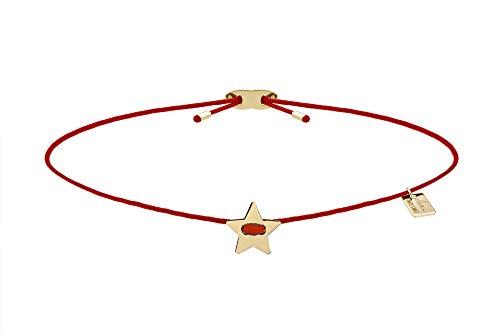 ELEA MONTECARLO Bracciale'YOU'RE MY STAR' Collezione JDIS in tessuto Nautico con elemento 8,0 mm ca. in oro tit. 375/1000 prodotto in Italia