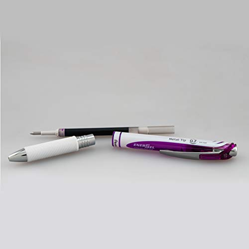Pentel EnerGel Pearl Deluxe RTX Retractable Liquid Gel Pen, 0.7mm, Pink Ink/Violet Ink, 2 Pack (BL77WBP2PV) Photo #4
