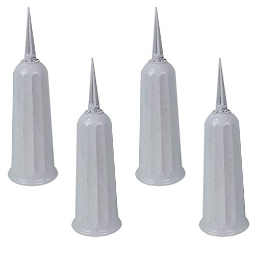 WINOMO 4Pcs Cemetery Vases, Grave Cone Vases, Vases for Flowers and Grave Decorations for Fresh/Artificial Flowers