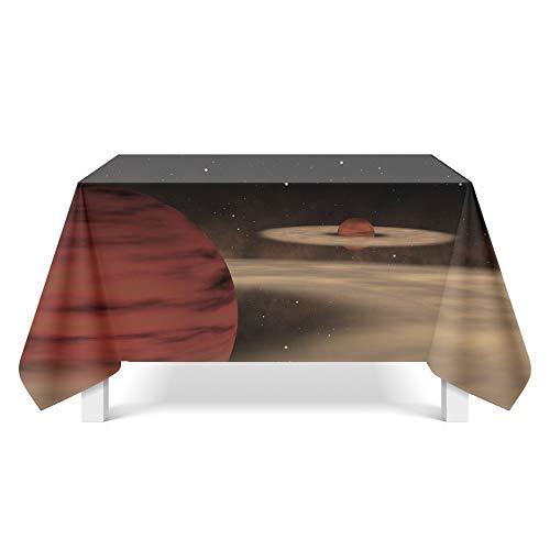 DREAMING-Starry Fantasy Art Tischdecke Home Tischdecke Tv-Schrank Couchtisch Stoff Runde Tisch Tischset 85cm * 85cm