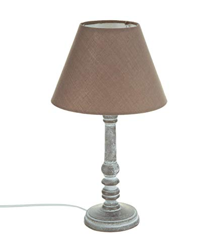 Nachttischlampe - Schlichter Stil - Farbe TAUPE patiniert