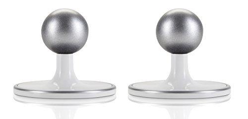 2er Pack - Wand-/Decken-/Tischhalterung für Arlo HD & Arlo Pro Kamerasystem, Weiss/Silber - von Wasserstein (weiß)