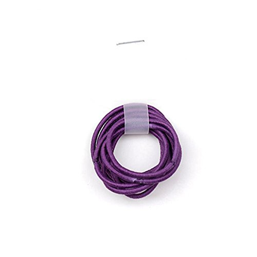 La Tartelette 2.4 cm Elastic Bands Hair Ties Children Rubber hair headbands - 50 Pcs (Deep Purple)