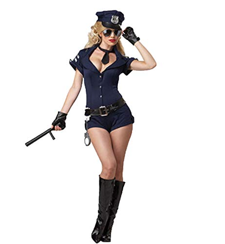 Costume da poliziotta per Donna Sexy Cosplay Lingerie Set Police Roleplay Outfit Uniforme impertinente