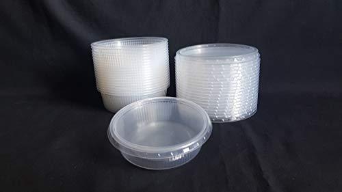 20 piezas 125 ml pequeño redondo desechables de plástico cubo de recipientes con tapa para alimentos.