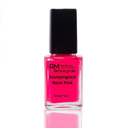 Stampinglack Neon Pink 5ml Stamping Lack Nagellack Nail Polish RM Beautynails
