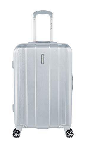 Tamaris Edition Hartschalen Koffer, 4 Rollen Reisekoffer für Damen/Herren mit TSA-Zahlenschloss, 67,5x44x22,5 – 60L (Silber)