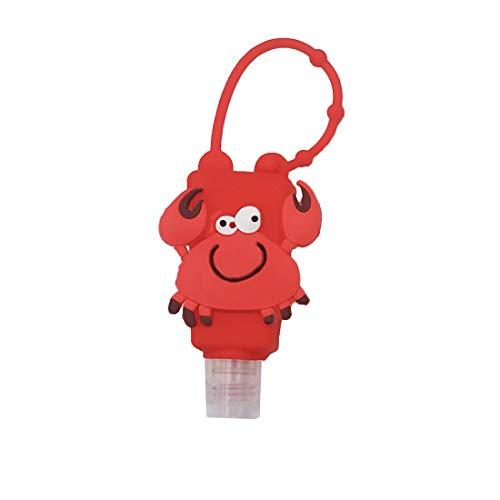 Mini Flaschen | leere Reiseflaschen zum Befüllen | kleine Flaschen aus Silikon | Auslaufsicher | EUROXANTY® | Krabbe