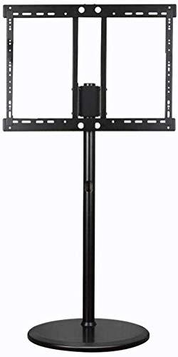 Inicio Equipamiento Mesa giratoria Soporte para TV Soporte de suelo para TV de acero inoxidable para televisores de 70 120 pulgadas Soporte de suelo para TV de dormitorio negro con ruedas Ruedas Up