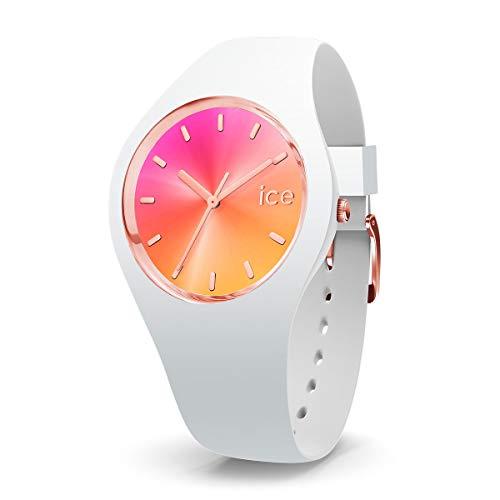 Ice-Watch - ICE sunset California - biały zegarek damski z silikonowym paskiem - 015750 (Medium)
