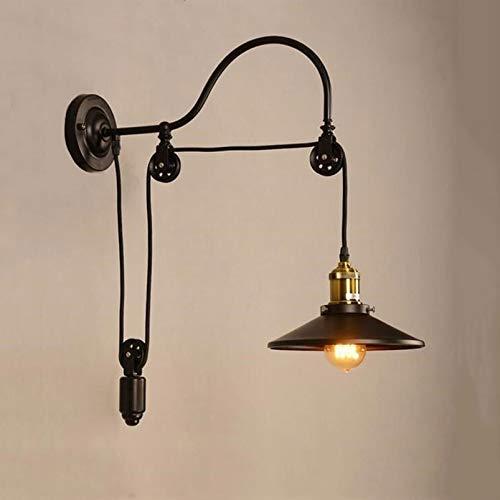 Xyamzhnn Vintage Schmiedeeisen Lampe Flaschenzug Aufzug Wandleuchte Bar Coffee Farm Dekoration Lampe ohne Lichtquelle