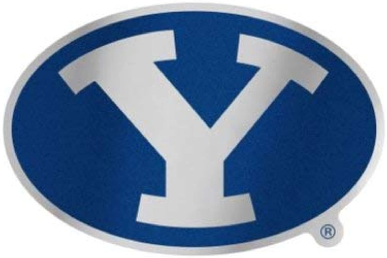 NCAA BYU Brigham Young Cougars 4.85  x 3.5  Inch Plastic Auto Badge Sticker Decal